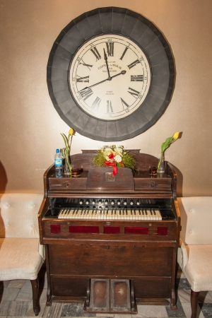 generates: Pump organ or harmonium is a type of reed organ that generates sound with foot-pumped bellows.
