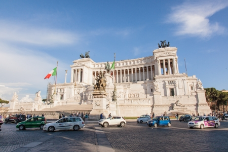 unified: Altare della Patria (Altar of the Fatherland) is a monument built in honour of Victor Emmanuel, the first king of a unified Italy, located in Rome, Italy.