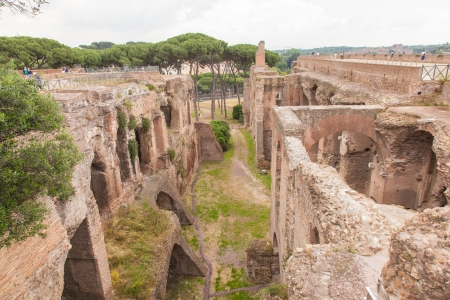 palatine: House of Augustus is the first major site upon entering the Palatine Hill in Rome, Italy. It served as the primary residence of Caesar Augustus during his reign.