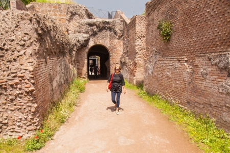 palatine: Cryptoporticus built by Nero to connect his Golden House with other imperial palaces on Palatine Hill. Editorial