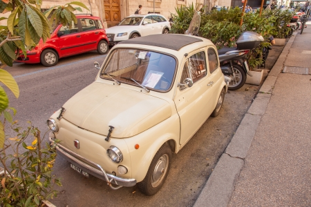 Fiat 500  is a car produced by the Fiat company of Italy between 1957 and 1975
