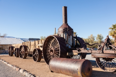 traction engine: Old Dinah steam tractor at Furnace Creek Ranch in Death Valley