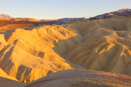 Zabriskie Point is a part of Amargosa Range located east of Death Valley in Death Valley National Park in California photo