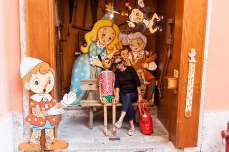 bedside lamps: Inside is a shop that would have warmed Gepettos heart. For more than 60 years and three generations, this family has been making whimsical, handmade curiosities out of pine, including clocks, bookends, bedside lamps, and wall hangings. Editorial