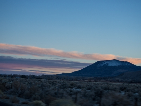 Sunset in Owens Valley near Big Pine, California