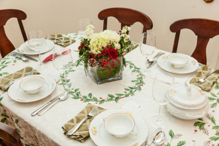 The Wigilia table is set with a white tablecloth under which is placed hay (polskie Sianko). The hay and cloth represent the manger and the veil of Mary which would swaddle the infant Jesus. The familys best china and crystal grace the table as this is a