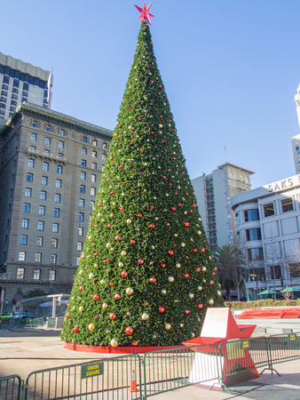 dewey: Christmas Tree in Union Square next to the Dewey Monument