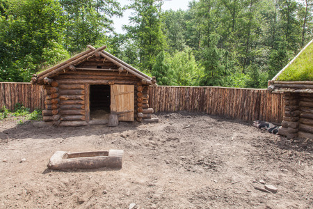 Archaeological open air museum Biskupin is an archaeological site and a life-size model of an Iron Age fortified settlement in north-central (Wielkopolska) Poland (Kuyavian-Pomeranian Voivodeship). photo