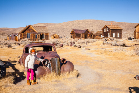 ghost town: Bodie is a ghost town in the Bodie Hills east of the Sierra Nevada mountain range in Mono County, California, United States Stock Photo