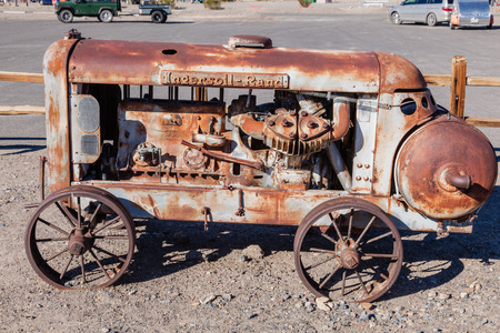Old rusty compressor used in mining to run the widow maker rock drills.