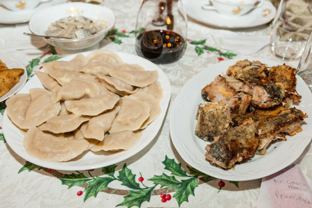 Pierogi are dumplings of unleavened dough  photo