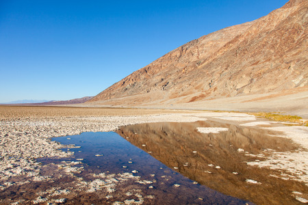 Badwater Basin, Death Valley, California; the USA's point of lowest elevation photo
