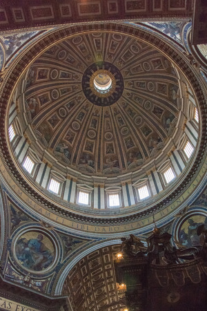 St. Peters Basilica has the largest interior of any Christian church in the world. Editorial
