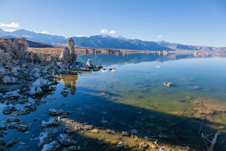 lee vining: Wonderful limestone tufa towers in Mono Lake South Tufa area