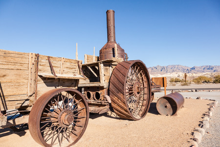 Old Dinah steam tractor at Furnace Creek Ranch in Death Valley Stock Photo - 26559883
