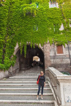 vincoli: Staircase under Palazzo Borgia leads to San Pietro in Vincoli square.