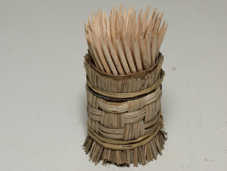 detritus: Toothpick is a small stick of wood, plastic, bamboo, metal, bone or other substance used to remove detritus from the teeth, usually after a meal.