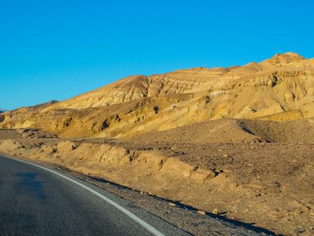 Route 190 near Zabriskie Point in Death Valley National Park. photo