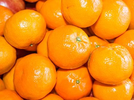 reticulata: Mandarin orange is a small citrus tree (Citrus reticulata) with fruit resembling other oranges. Stock Photo