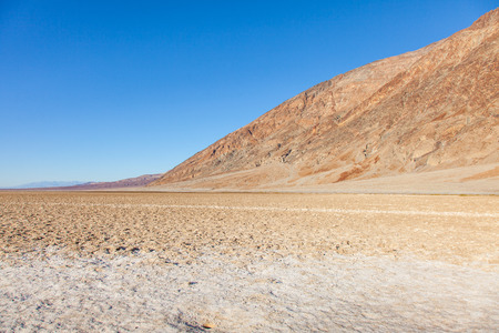 Badwater Basin, Death Valley, California; the USAs point of lowest elevation