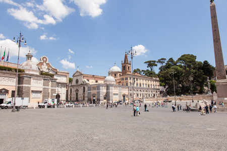 heliopolis: Egyptian obelisk of Ramesses II from Heliopolis stands in the centre of the Piazza del Popolo Editorial