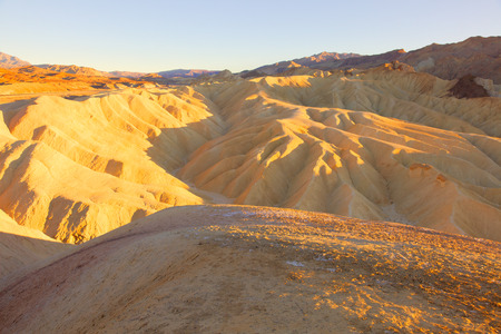 Zabriskie Point is a part of Amargosa Range located east of Death Valley in Death Valley National Park in California Imagens