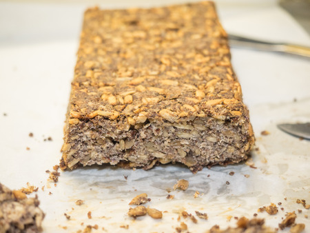Bread uses whole grains, nuts, and seeds. It is high in protein. It is incredibly high in fiber.