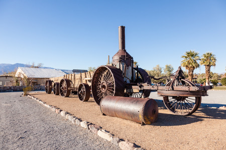 Old Dinah steam tractor at Furnace Creek Ranch in Death Valley