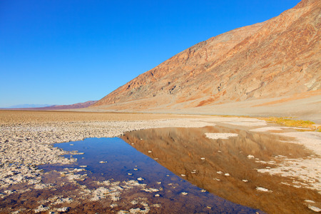 Badwater Basin, Death Valley, California; the USA Stock Photo