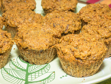 carrot cakes: Sweet potato, carrot muffins with almonds and pecans.