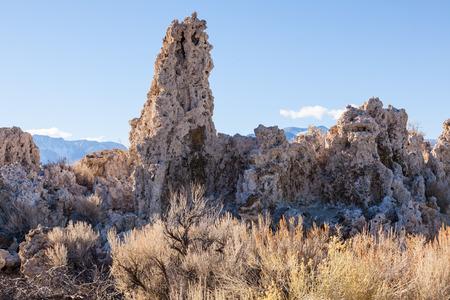 Wonderful limestone tufa towers in Mono Lake South Tufa area