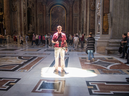 peters: St. Peters Basilica has the largest interior of any Christian church in the world. Editorial