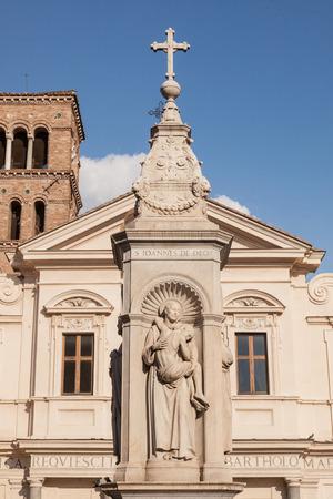 aesculapius: Basilica di San Bartolomeo all'Isola si trova all'Isola Tiberina, sul sito dell'ex tempio di Esculapio.
