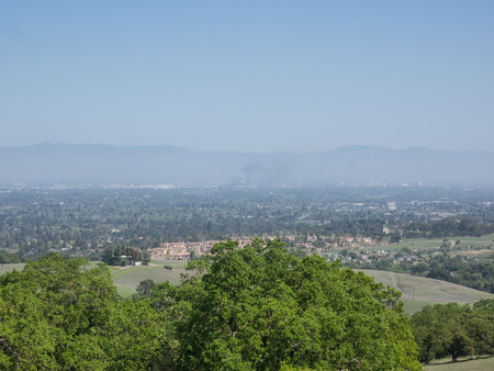 silicon: View of Silicon Valley from vista point at San Antonio Open Space Preserve.