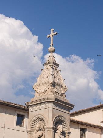 aesculapius: Bas�lica de San Bartolom� en la Isla se encuentra en la Isla Tiberina, en el sitio del antiguo templo de Esculapio.