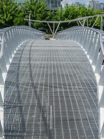 road cycling: Bridge on False Creek Seaside Bicycle Route