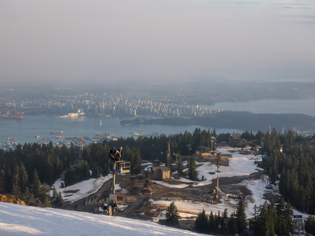Grouse Mountain is one of the North Shore Mountains of the Pacific Ranges in the District Municipality of North Vancouver, British Columbia, Canada.