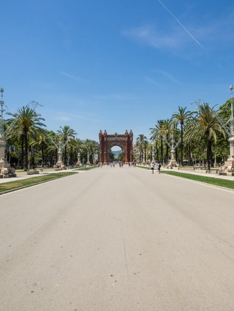 Arc de Triomf is an arch in the manner of a memorial or triumphal arch in Barcelona photo