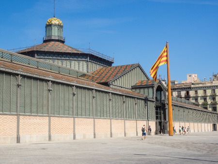 modernisme: El Born market has reopened as a cultural center.It is the largest covered square in all of Europe and marked the start of Modernisme in Catalan architecture.