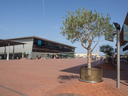 centers: Odyssey plaza in the Maremagnum shopping centre of Port Vell in Barcelona.