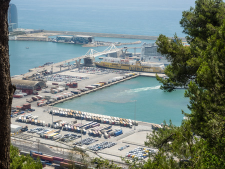 Port of Barcelona has a 2000-year history and great contemporary commercial importance as one of Europes ports in the Mediterranean, as well as Catalonias largest port. photo