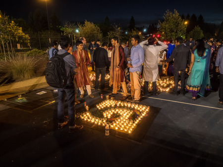 MOUNTAIN VIEW, CAUSA - OCTOBER 24: IGN (Indus Googler Network) Diwali celebration at the GARField Google campus on October 24, 2014.