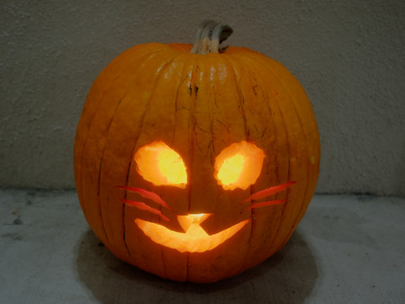Jack-o-lantern is a carved pumpkin, associated chiefly with the holiday of Halloween.