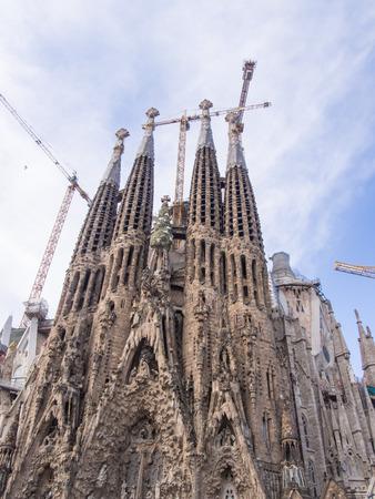 gaud: Baslica i Temple Expiatori de la Sagrada Famlia is a large Roman Catholic church in Barcelona, Spain, designed by Catalan architect Antoni Gaud