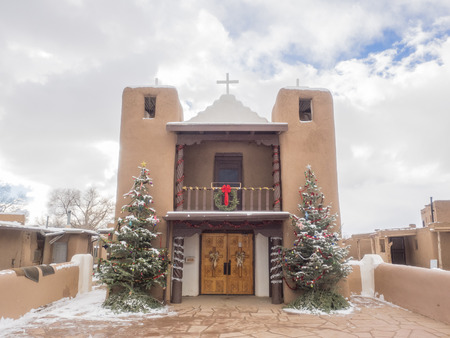 west gate: Mission church was constructed near the west gate of the Taos Pueblo wall.
