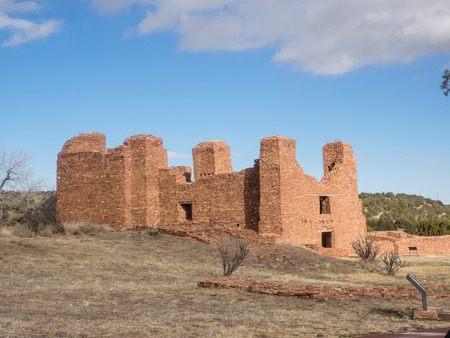 Quarai Mission ruins are located in Salinas Pueblo Missions National Monument near Mountainair, NM. photo