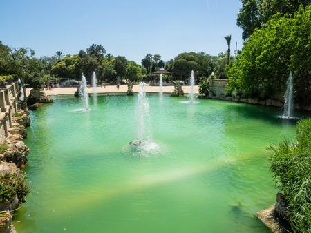 parc: Parc de la Ciutadella is a park in Ciutat Vella, Barcelona, Catalonia. Stock Photo
