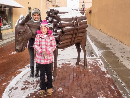 fe: Santa Fe burro statue on San Francisco Street