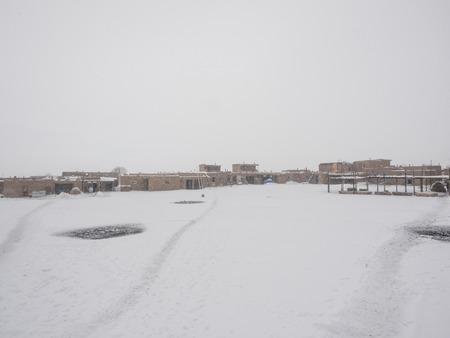 Taos Pueblo is an ancient pueblo belonging to a Tiwa-speaking Native American tribe of Pueblo people.