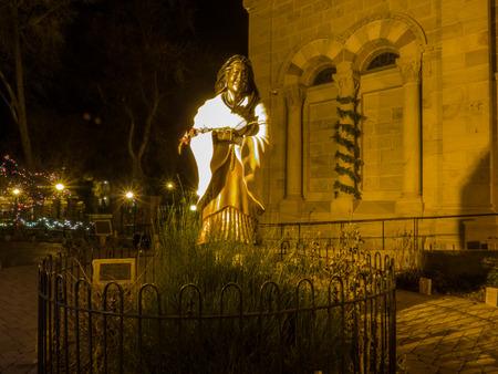 nm: Saint Kateri Tekakwitha is a Roman Catholic saint who was an Algonquin–Mohawk virgin and laywoman. Stock Photo
